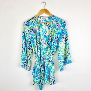 Lilly Pulitzer Tie Waist Kimono